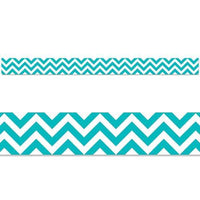 Turquoise Chevron Display Border