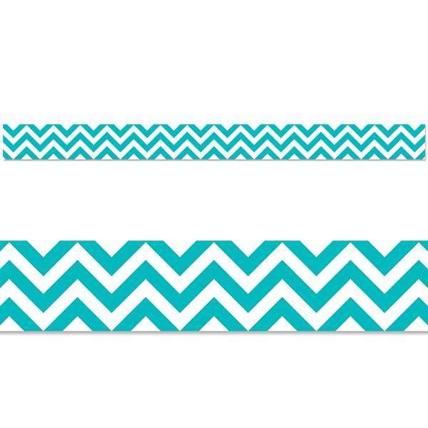 Turquoise Chevron Display Border:Primary Classroom Resources