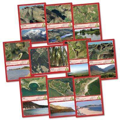 UK Physical Features Desk mats:Primary Classroom Resources