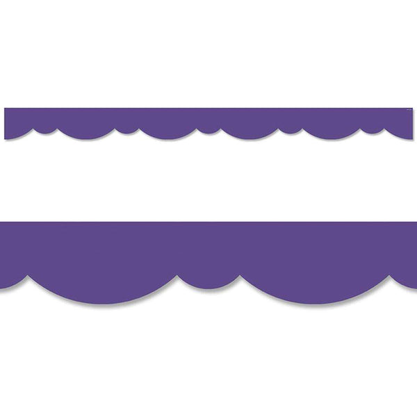 Ultra Violet Stylish Scallops Border:Primary Classroom Resources