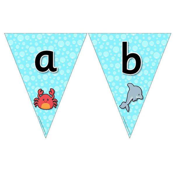Under the Sea Themed Alphabet Bunting:Primary Classroom Resources