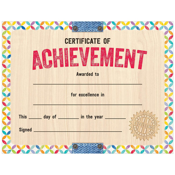 Upcycle Style Certificate of Achievement Large Award