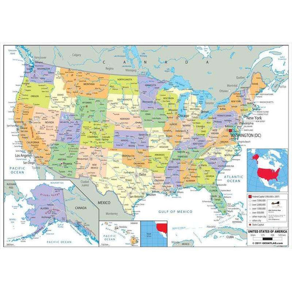 USA Political Map:Primary Classroom Resources