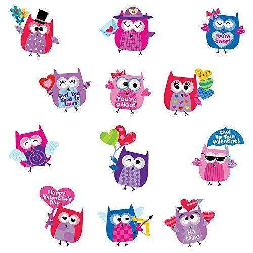 Valentines Day Owl Stickers Primary Classroom Resources