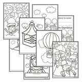 Victorian Pleasure Garden Colouring Sheets:Primary Classroom Resources