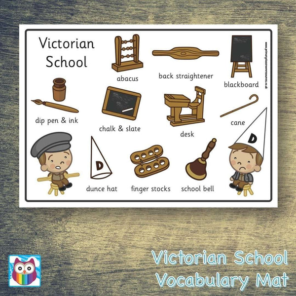 Victorian School Word Mat:Primary Classroom Resources