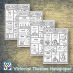 Victorian Timeline Newspaper:Primary Classroom Resources