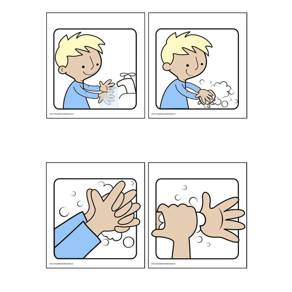 Washing Your Hands - Ordering Activity/Writing prompts