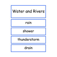 Water and Rivers Vocabulary:Primary Classroom Resources