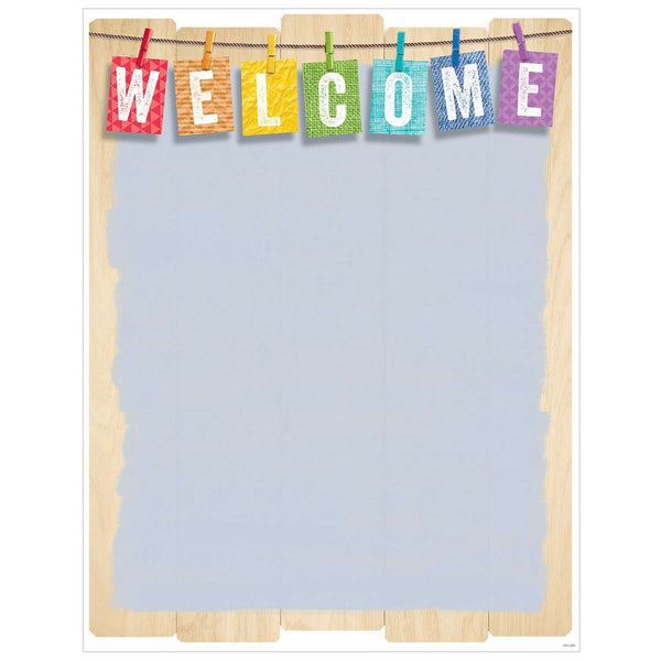 Welcome Chart - Upcycle Style Poster:Primary Classroom Resources