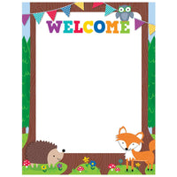 Welcome Chart - Woodland Friends Poster:Primary Classroom Resources
