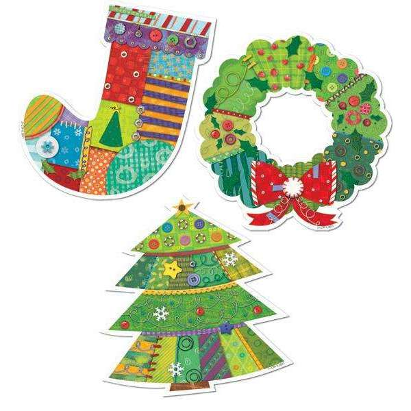 "Winter Holiday 6"" Designer Cut Outs:Primary Classroom Resources"