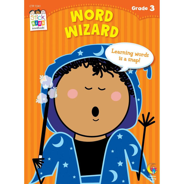Stick Kids Workbook - Word Wizard - Grade 3 (Ages 8-9):Primary Classroom Resources
