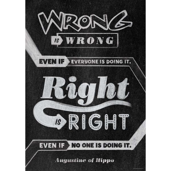 Wrong is wrong even if... Inspire U Poster