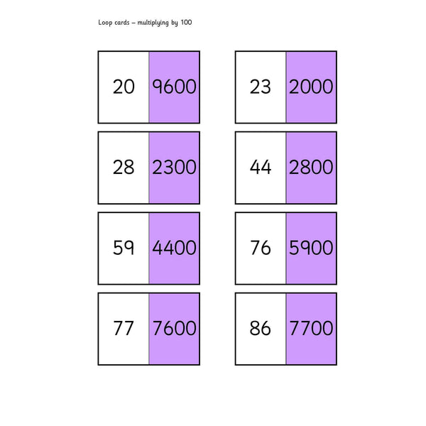 x 100 Loop Cards:Primary Classroom Resources