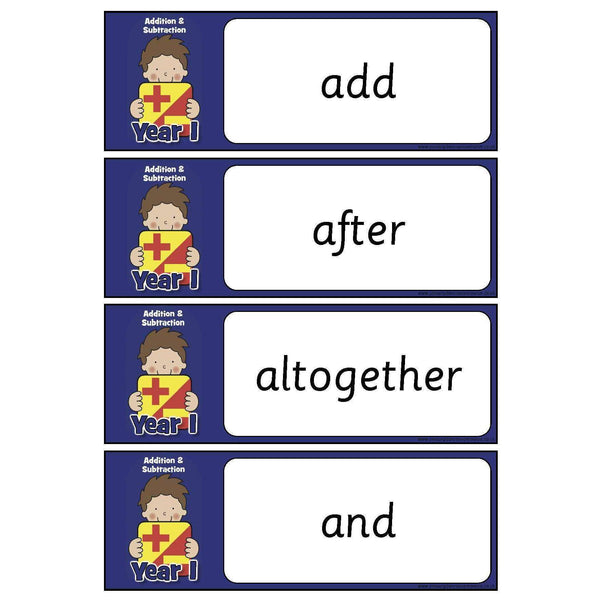 Year 1 Maths Vocabulary - Addition and Subtraction