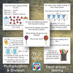 Year 2 - Spring Block 1 - Multiplication & Division - Equal groups by sharing - Question & Talk Pack:Primary Classroom Resources