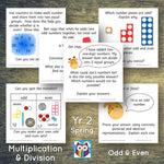 Year 2 - Spring Block 1 - Multiplication & Division - Odd & Even - Question & Talk Pack