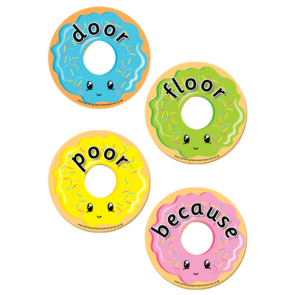 Year 2 Common Exception Words Donuts