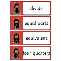Year 2 Maths Vocabulary - Fractions:Primary Classroom Resources