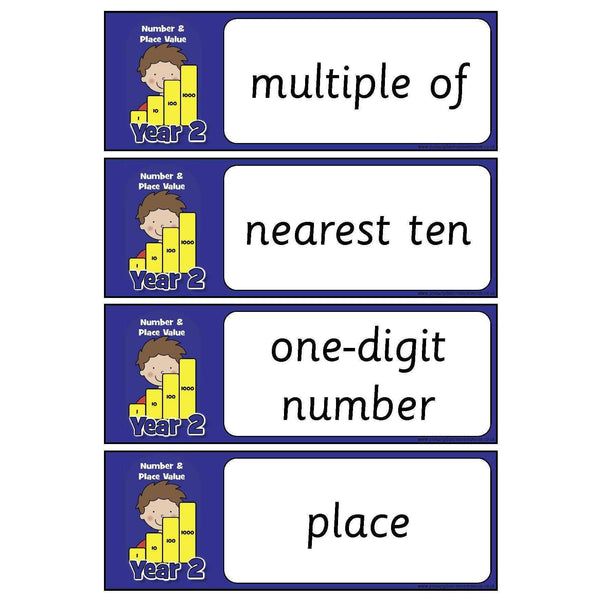 Year 2 Maths Vocabulary - Number and Place Value:Primary Classroom Resources