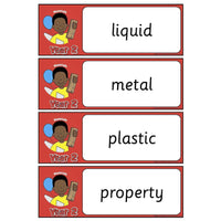 Year 2 Science Vocabulary - Materials:Primary Classroom Resources