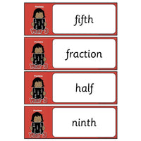 Year 3 Maths Vocabulary - Fractions:Primary Classroom Resources
