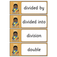 Year 3 Maths Vocabulary - Multiplication and Division:Primary Classroom Resources