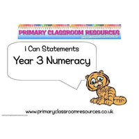 Year 3 Numeracy I Can Statements Posters:Primary Classroom Resources