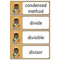 Year 4 Maths Vocabulary - Multiplication and Division:Primary Classroom Resources