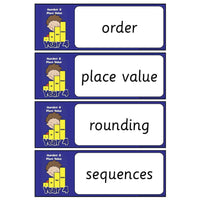 Year 4 Maths Vocabulary - Number and Place Value:Primary Classroom Resources