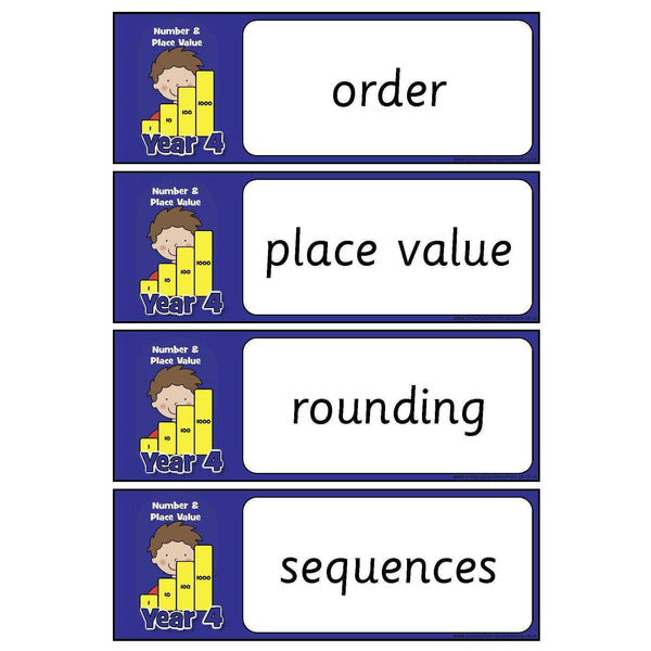 Year 4 Maths Vocabulary - Number and Place Value