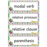Year 5 English Terminology Cards:Primary Classroom Resources
