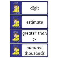 Year 5 Maths Vocabulary - Number and Place Value:Primary Classroom Resources