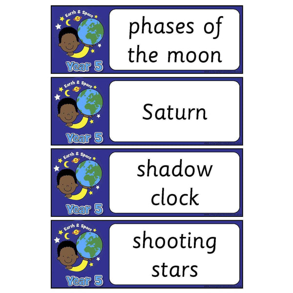 Year 5 Science Vocabulary - Earth and Space:Primary Classroom Resources