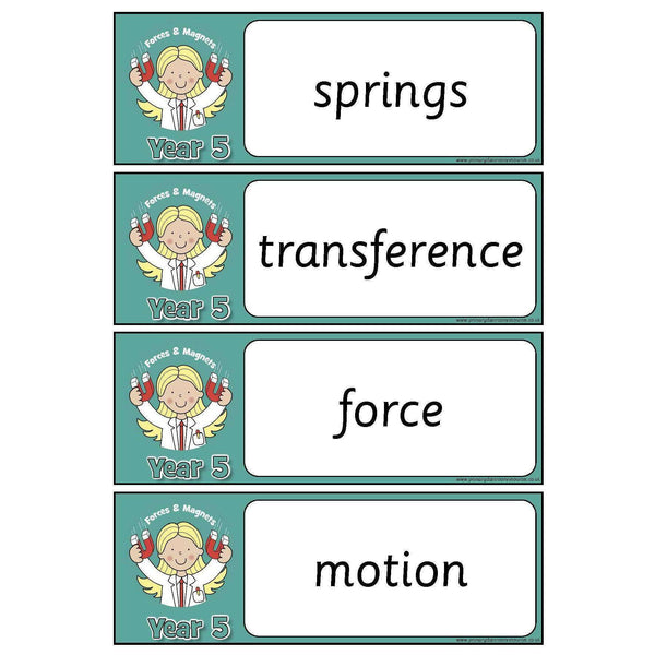 Year 5 Science Vocabulary - Forces