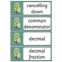 Year 6 Maths Vocabulary - Fractions, Decimals and Percentages:Primary Classroom Resources