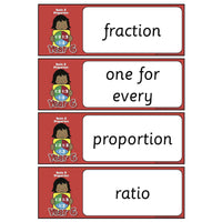 Year 6 Maths Vocabulary - Ratio and Proportion:Primary Classroom Resources