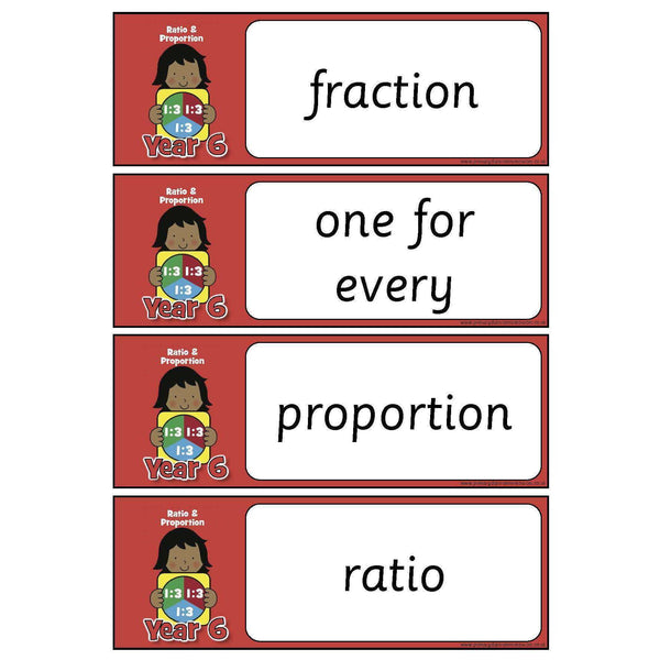 Year 6 Maths Vocabulary - Ratio and Proportion