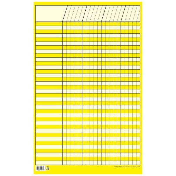 Yellow Small Vertical Incentive Chart Poster