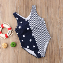 Load image into Gallery viewer, One-piece Stars & Striped Matching Swimwear