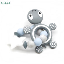 Load image into Gallery viewer, Silicone Turtle Teether Bracelet