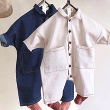 Load image into Gallery viewer, Korean Style Denim Rompers