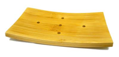 Curved Bamboo Soap Dish Sōk Your Way