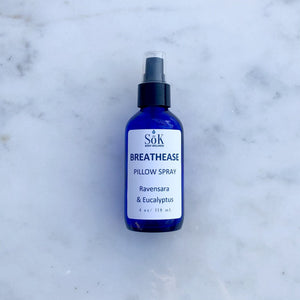 Breathease Pillow Spray 4 Ounce Liquid Sōk Body Wellness