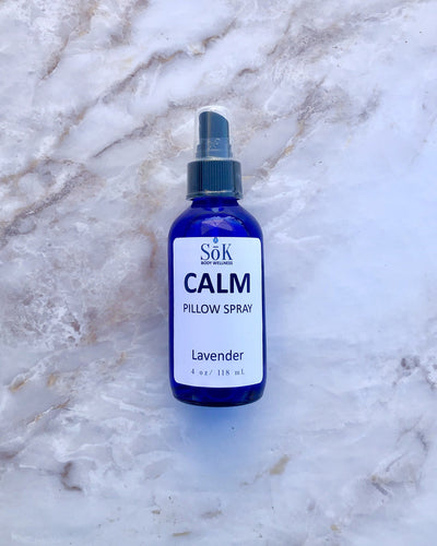 Calm Pillow Spray 4 Ounce Liquid Sōk Body Wellness