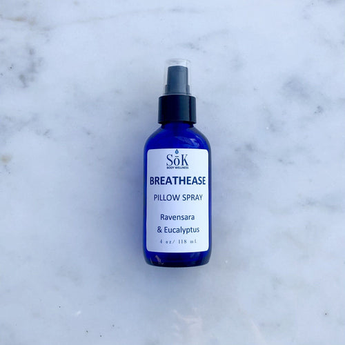 Breathease Pillow Spray 2 Ounce Liquid Sōk Body Wellness