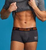 UNCOATED 247</br>BOXER BRIEFS-LOW RISE ORANGE CHARCOAL