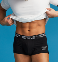 UNCOATED 247</br>BOXER BRIEFS-LOW RISE STANDARD BLACK