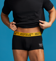 UNCOATED 247</br>BOXER BRIEFS-LOW RISE YELLOW BLACK